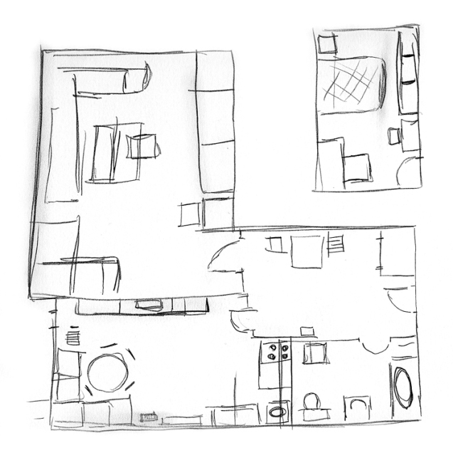 Drawing the old apartment_Dad