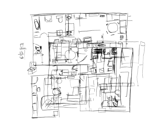 Drawing the old apartment_Family