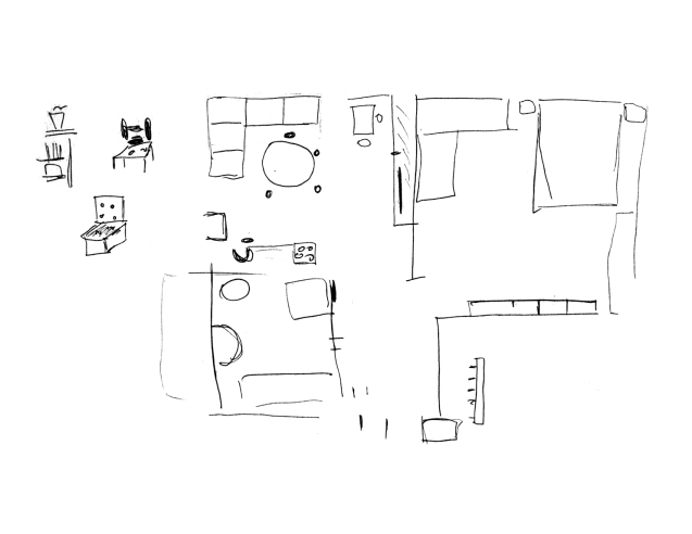 Drawing the old apartment_Mom