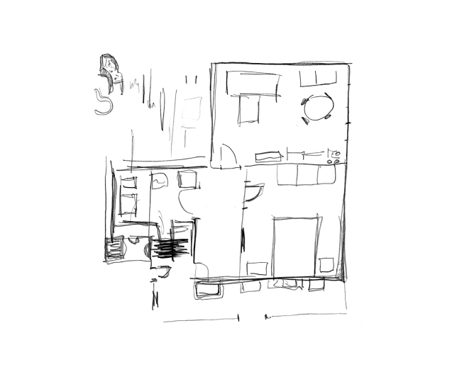 Drawing the old apartment_Sister